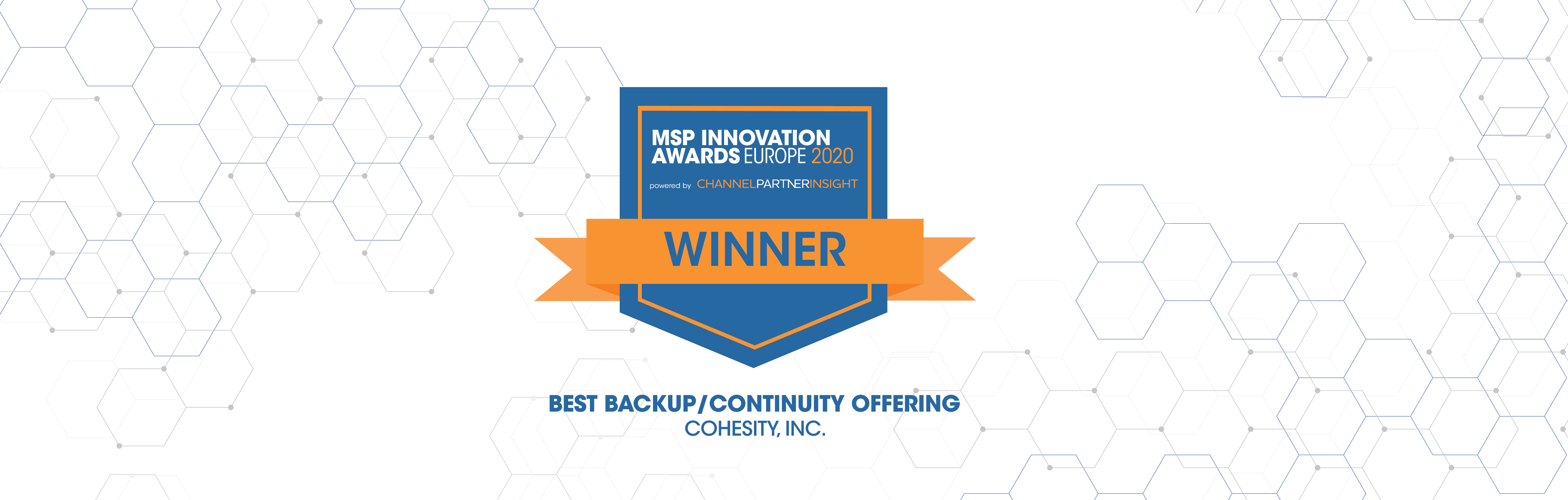 Cohesity Lands Coveted Backup and Continuity Win at the Channel Partner Insight MSP Innovation Awards