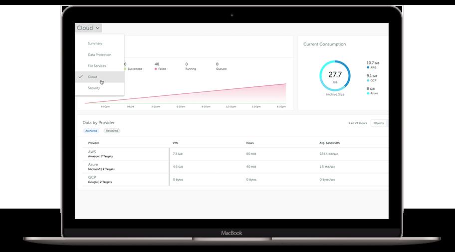 Dataprotect For Cloud Hero UI