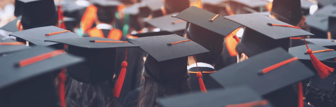 university-grad-caps-banner
