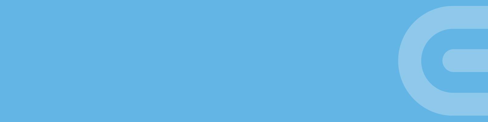 Banner Little C - light blue