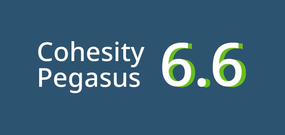 Cohesity Pegasus 6.6 hero banner