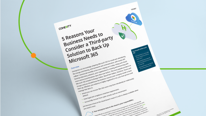 5 Reasons Your Business Needs to Back Up Microsoft 365