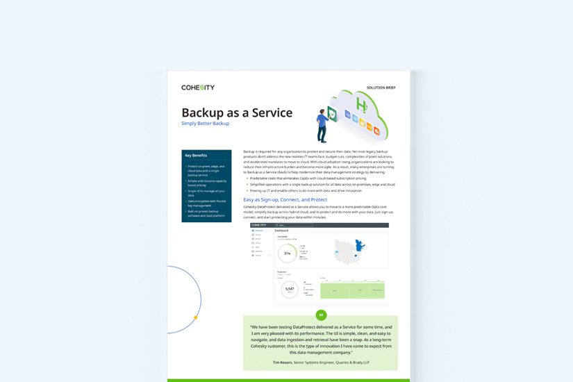 Backup as a Service solution brief thumbnail