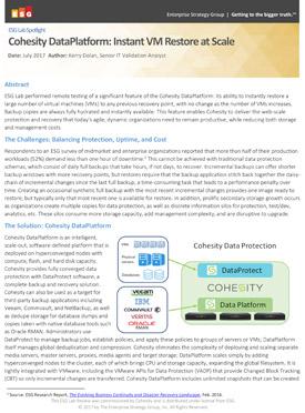 Cohesity DataPlatform: Instant VM Restore at Scale
