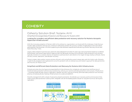 Simplified Converged Data Protection and Recovery for Nutanix AHV