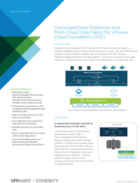 Converged Data Protection and Multi-Cloud Data Fabric for VMware Cloud Foundation