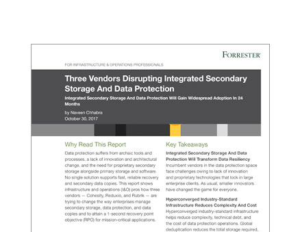 Cohesity: Forrester Report