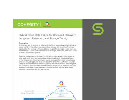 Cohesity and Google Cloud