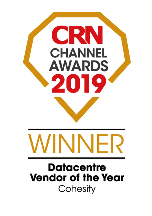 2019 CRN Channel Awards Cohesity Datacentre Vendor of the Year
