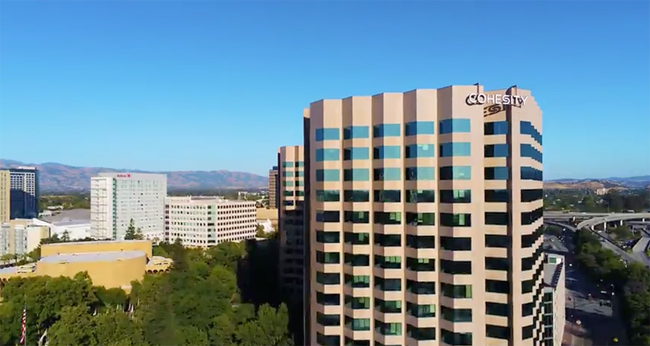 Cohesity HQ with freeway