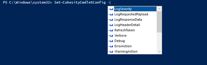Cohesity cmdlet Set-CohesityCmdletConfig Gives Developers Flexibility