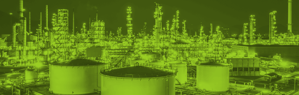 energy oil gas industrial green banner