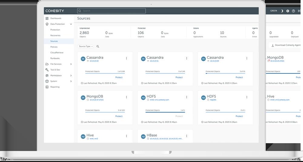 UI image showing datasources