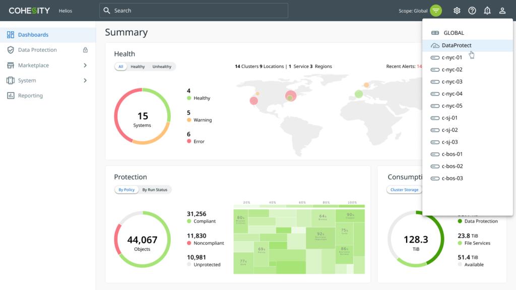 Modern Data Management Dashboard